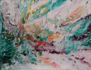 Untitled Original Acrylic by Laara WilliamSen (c) Copyrighted 2012 All rights reserved