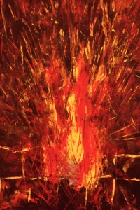 THE ELEMENTS - Fire, Original Acrylic painting by Laara WilliamSen, (c) 2013 Copyrighted All Rights Reserved