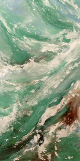ELEMENTS - Water Original acrylic 18 x 24 inches by Laara WilliamSen April 2013 4