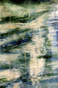 THE ELEMENTS - Water, Original Acrylic painting by Laara WilliamSen, (c) 2013 Copyrighted All Rights Reserved