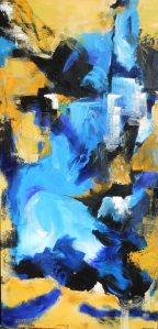 MOLOKAI Original acrylic 24 x 48 inches DANIELA BODMAN, Canadian painter, Quesnel, B.C., Canada 2014 (c) Copyrighted All rights reserved