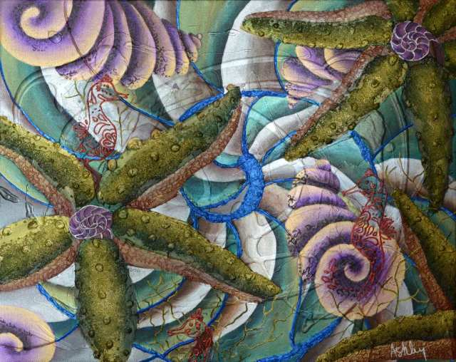 INDIGO Original artwork 16 x 20 inches by Ashley Jackson 2014 (c) Copyrighted All Rights Reserved