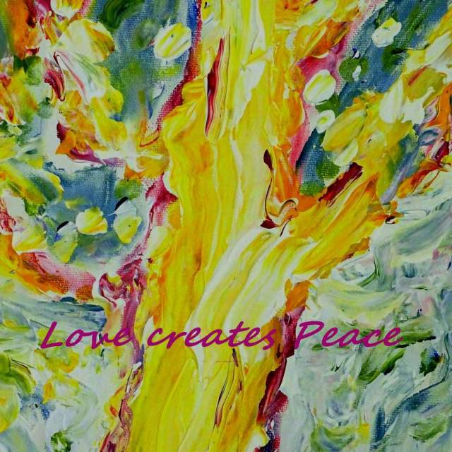 LOVE creates PEACE Original acrylic by Laara WilliamSen