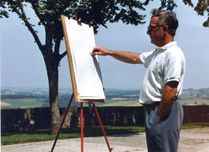 Student painting on the Esplanadee