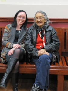 Volunteer with a client at BETTER AT HOMES, Quesnel, B.C.